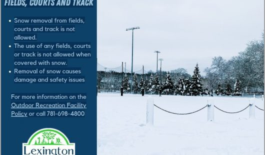 Please do not remove snow from fields